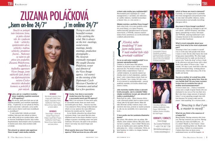 Business Soireé Prosinec 2014 - Zuzana Poláčková 24/7