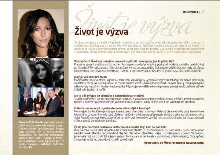 Magazín Letiště Praha - rozhovor Zuzana Poláčková